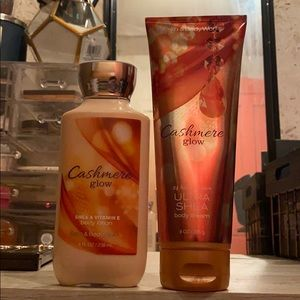 Cashmere glow body lotions.